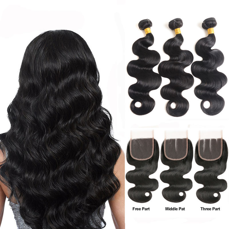 Minimum Shedding Unprocessed Cambodian Human Hair Weave / Body Wave Human Hair