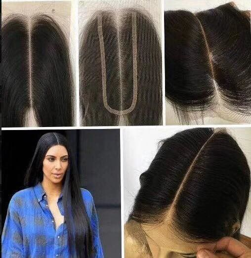 8 Inch Real Indian Human Hair Weave For Beauty / Kim K Closure Hair Extensions